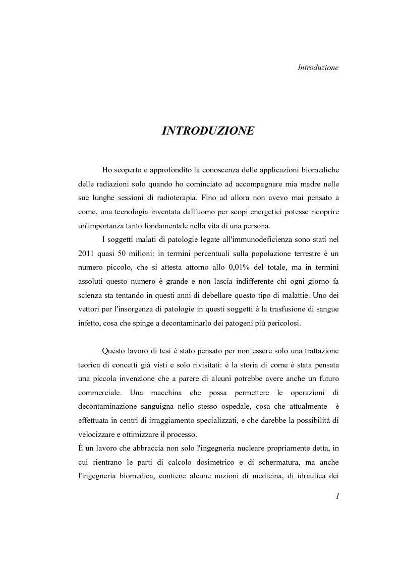 Anteprima della tesi: Progetto di un irraggiatore per sangue umano, Pagina 2