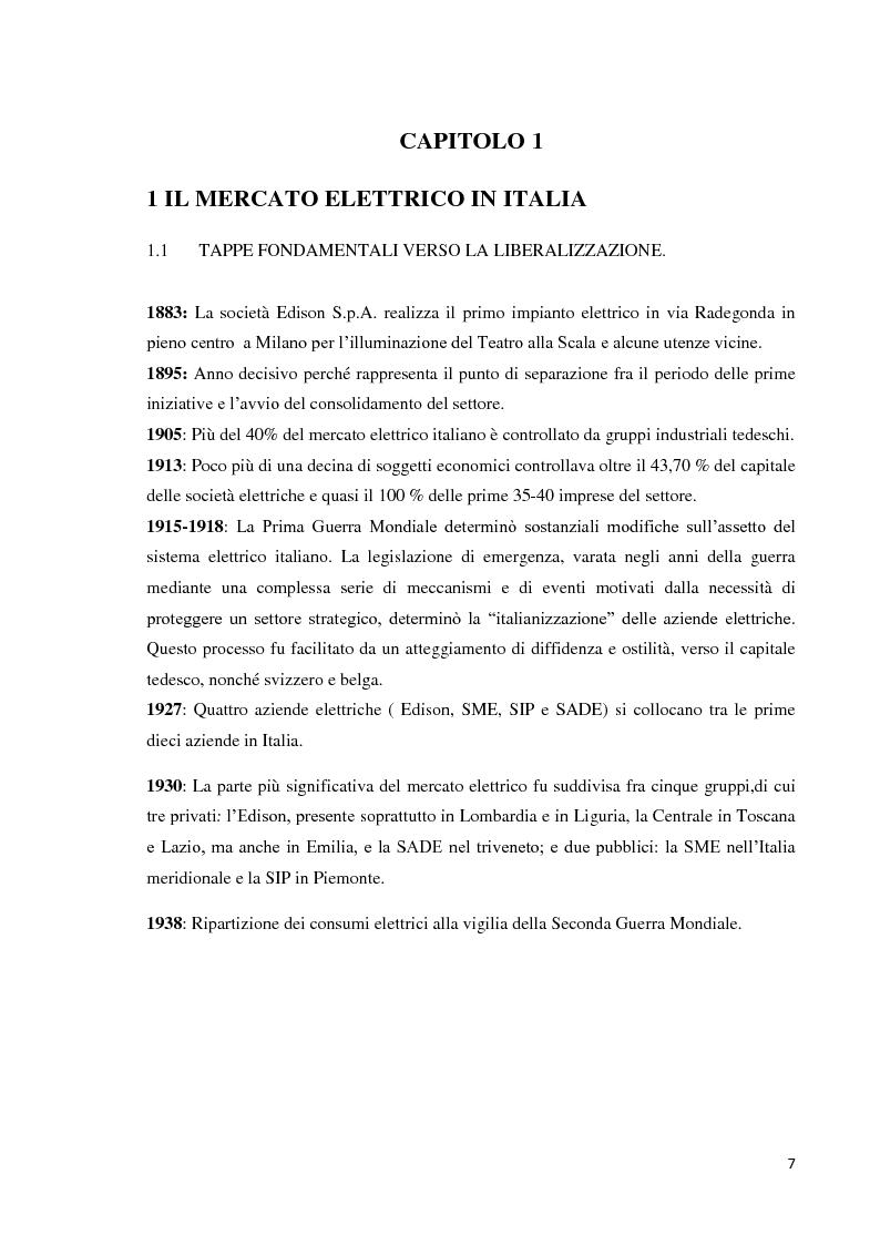 Anteprima della tesi: L'offerta commerciale nel mercato elettrico italiano, Pagina 3