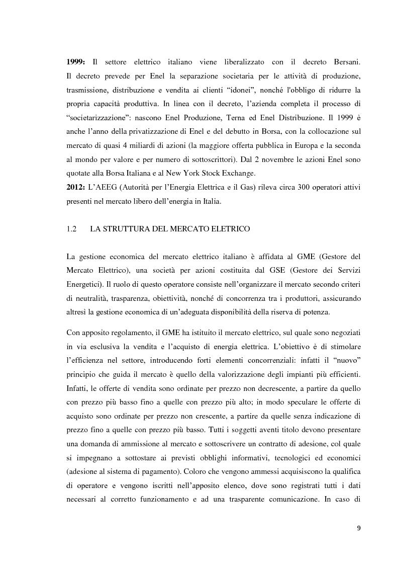 Anteprima della tesi: L'offerta commerciale nel mercato elettrico italiano, Pagina 5