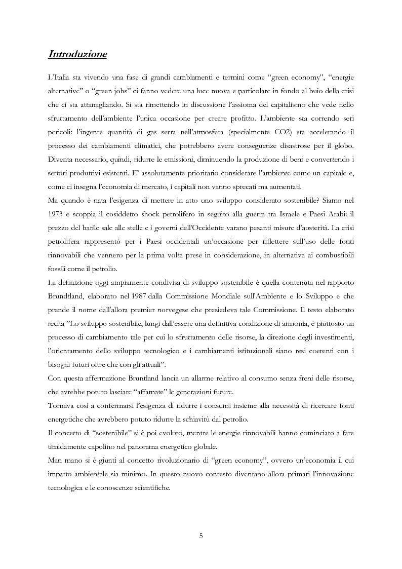 Anteprima della tesi: L'impatto della green economy in Italia: un'economia alternativa è davvero possibile?, Pagina 2