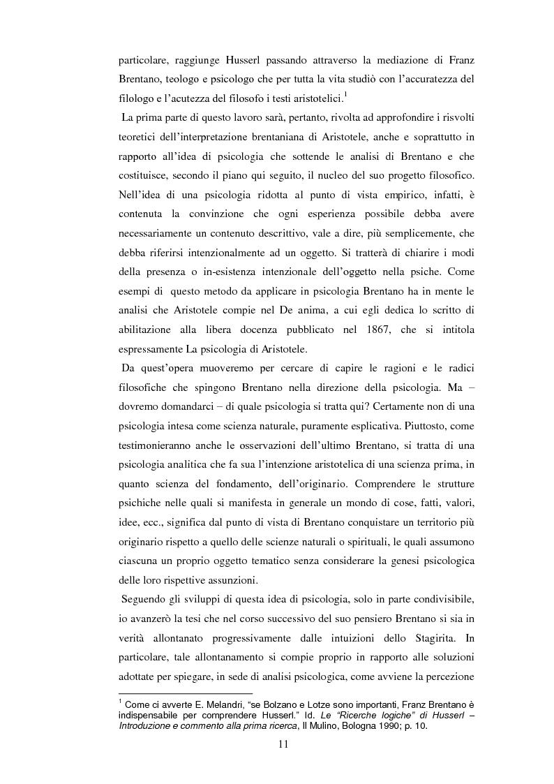 Anteprima della tesi: Entelechia, intenzionalità e costituzione dell'oggetto: una lettura fenomenologica, Pagina 3
