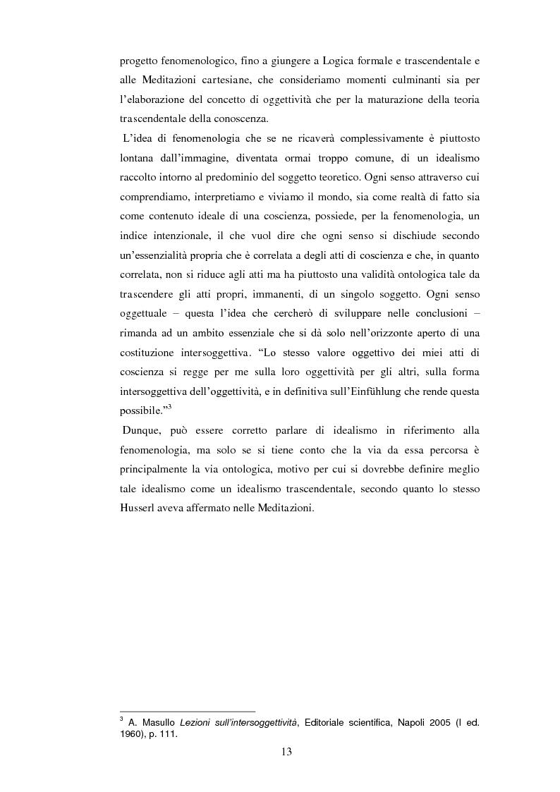 Anteprima della tesi: Entelechia, intenzionalità e costituzione dell'oggetto: una lettura fenomenologica, Pagina 5