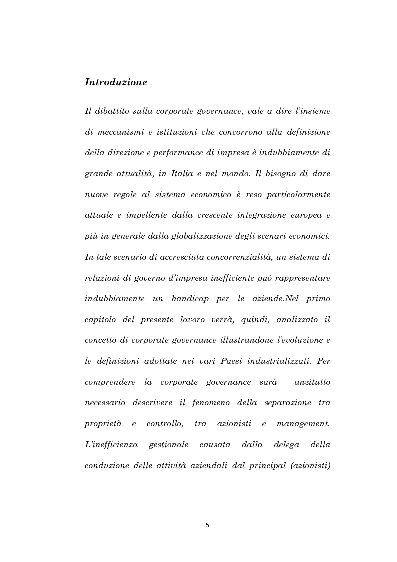 Anteprima della tesi: La corporate governance e il fenomeno dell'interlocking, Pagina 2