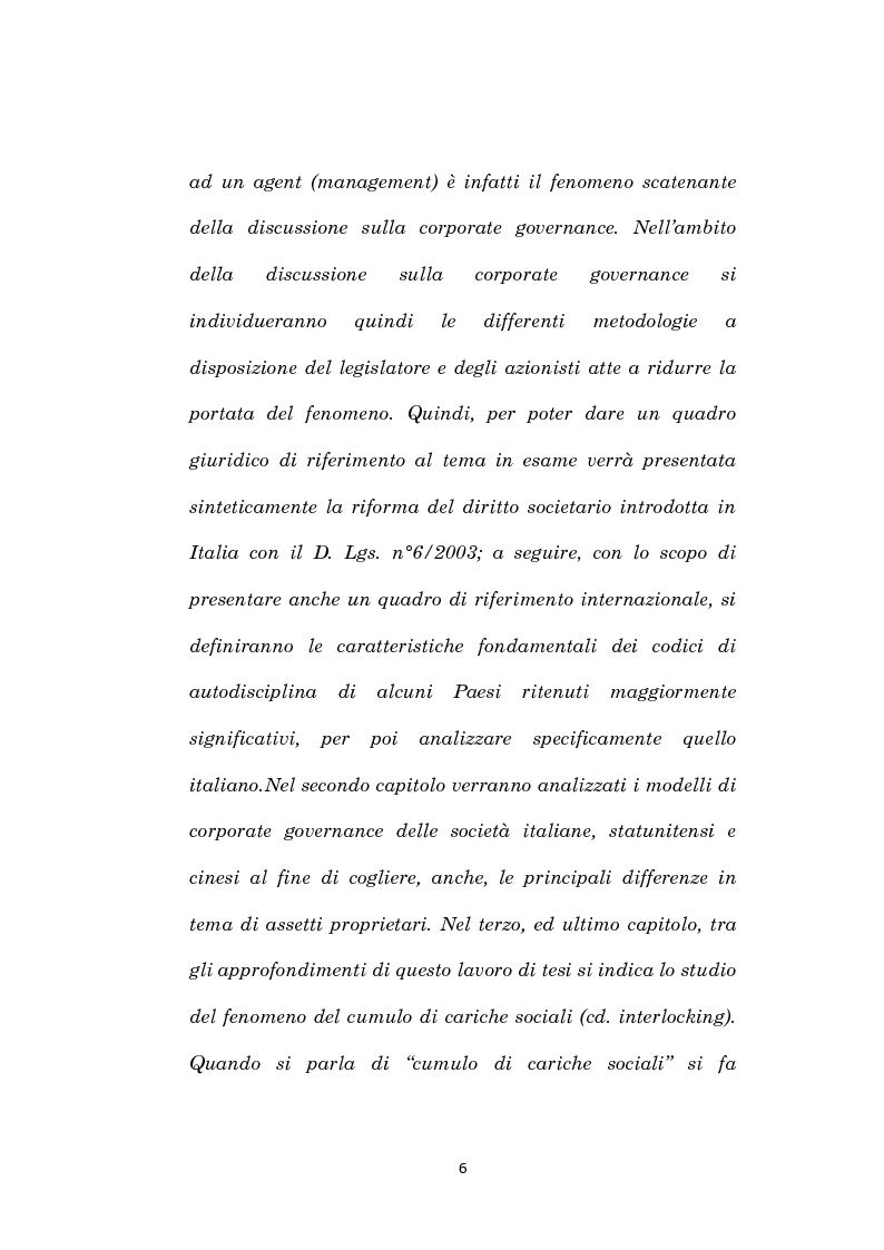 Anteprima della tesi: La corporate governance e il fenomeno dell'interlocking, Pagina 3