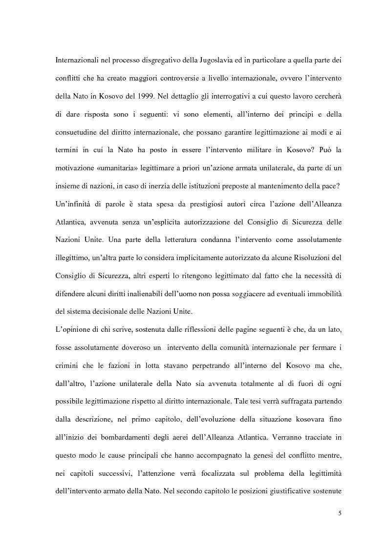 Anteprima della tesi: Il ruolo delle Organizzazioni Internazionali nella disgregazione della Jugoslavia: genesi, sviluppo e legittimità dell'intervento Nato in Kosovo., Pagina 3