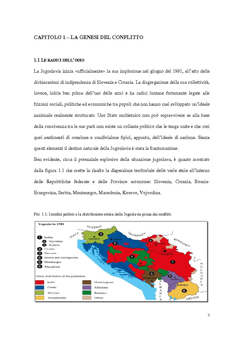Anteprima della tesi: Il ruolo delle Organizzazioni Internazionali nella disgregazione della Jugoslavia: genesi, sviluppo e legittimità dell'intervento Nato in Kosovo., Pagina 5