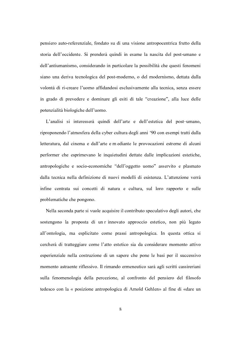 Anteprima della tesi: La visione estetica di Herbert Read fra umano e postumano, Pagina 3