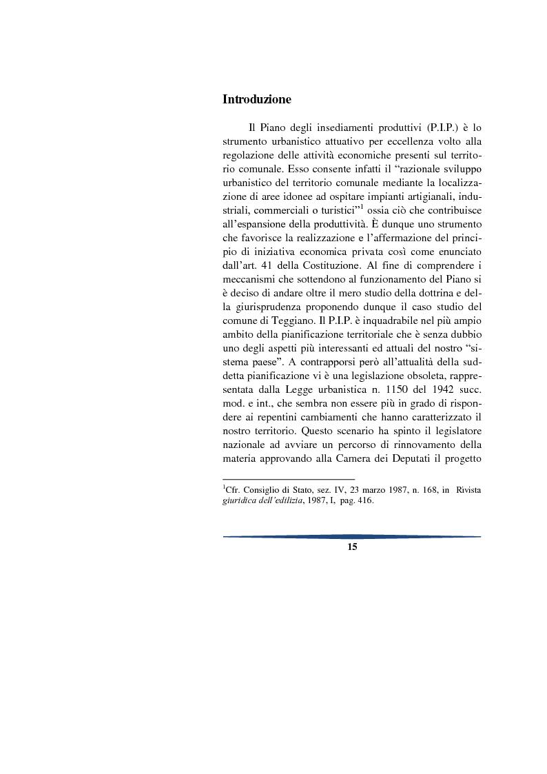 Anteprima della tesi: Il piano degli insediamenti produttivi tra governo del territorio e regolazione delle attività economiche. Il caso del comune di Teggiano, Pagina 2