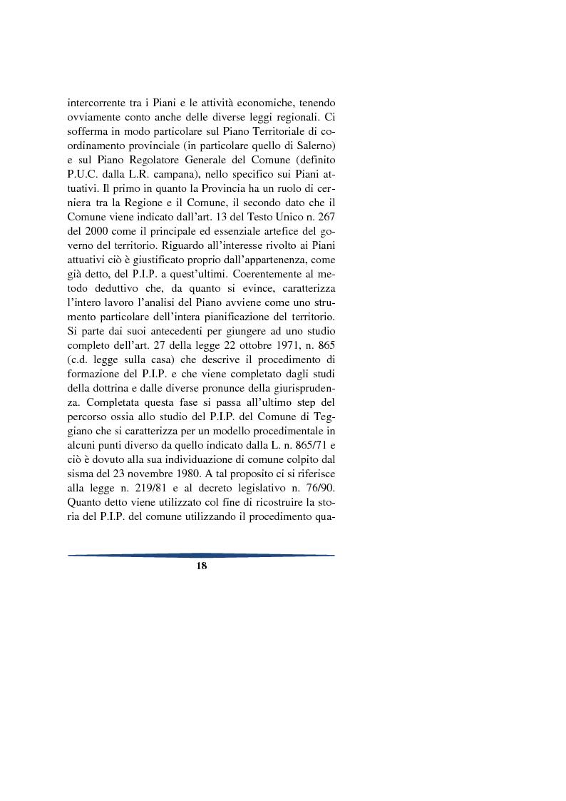 Anteprima della tesi: Il piano degli insediamenti produttivi tra governo del territorio e regolazione delle attività economiche. Il caso del comune di Teggiano, Pagina 5