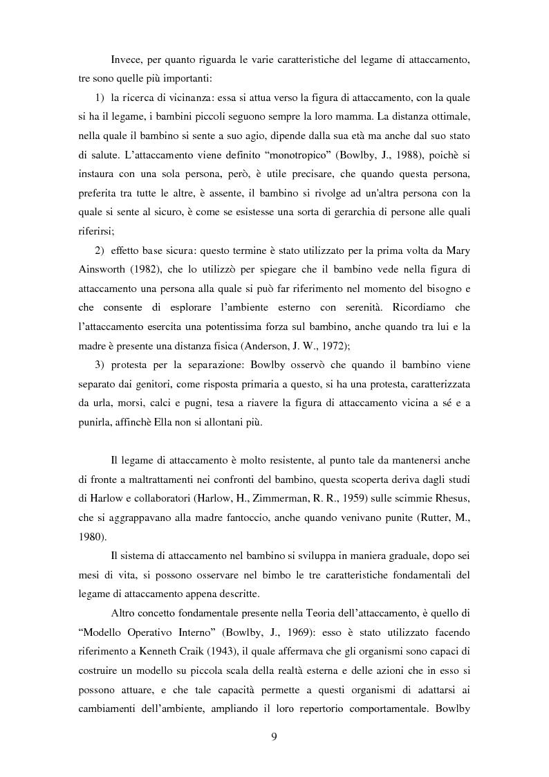 Anteprima della tesi: Le rappresentazioni mentali in gravidanza nella genitorialità tipica e ''a rischio'': strategie di prevenzione e di intervento precoce, Pagina 10