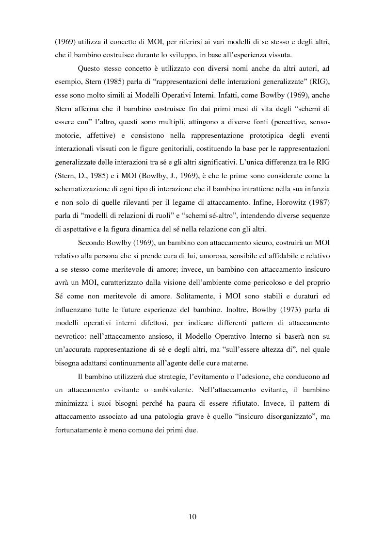 Anteprima della tesi: Le rappresentazioni mentali in gravidanza nella genitorialità tipica e ''a rischio'': strategie di prevenzione e di intervento precoce, Pagina 11