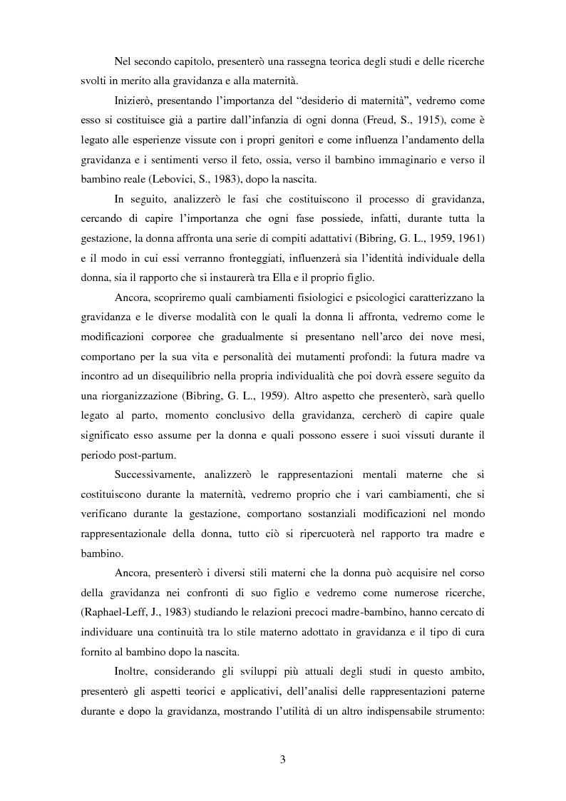 Anteprima della tesi: Le rappresentazioni mentali in gravidanza nella genitorialità tipica e ''a rischio'': strategie di prevenzione e di intervento precoce, Pagina 4