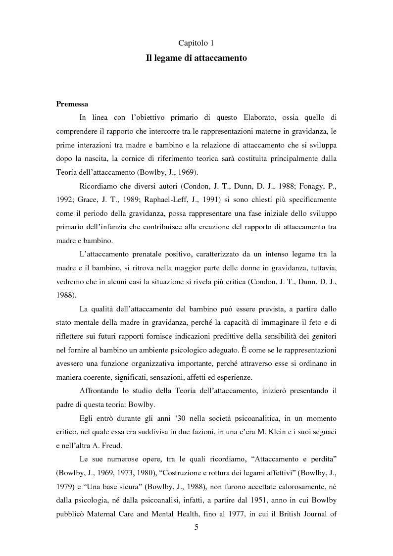 Anteprima della tesi: Le rappresentazioni mentali in gravidanza nella genitorialità tipica e ''a rischio'': strategie di prevenzione e di intervento precoce, Pagina 6
