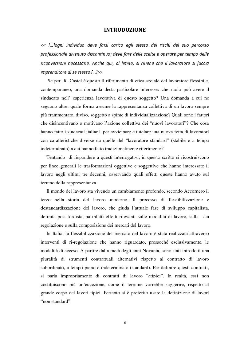 Anteprima della tesi: Quale rappresentanza per quale lavoro? Il sindacato italiano di fronte al lavoro che cambia., Pagina 2