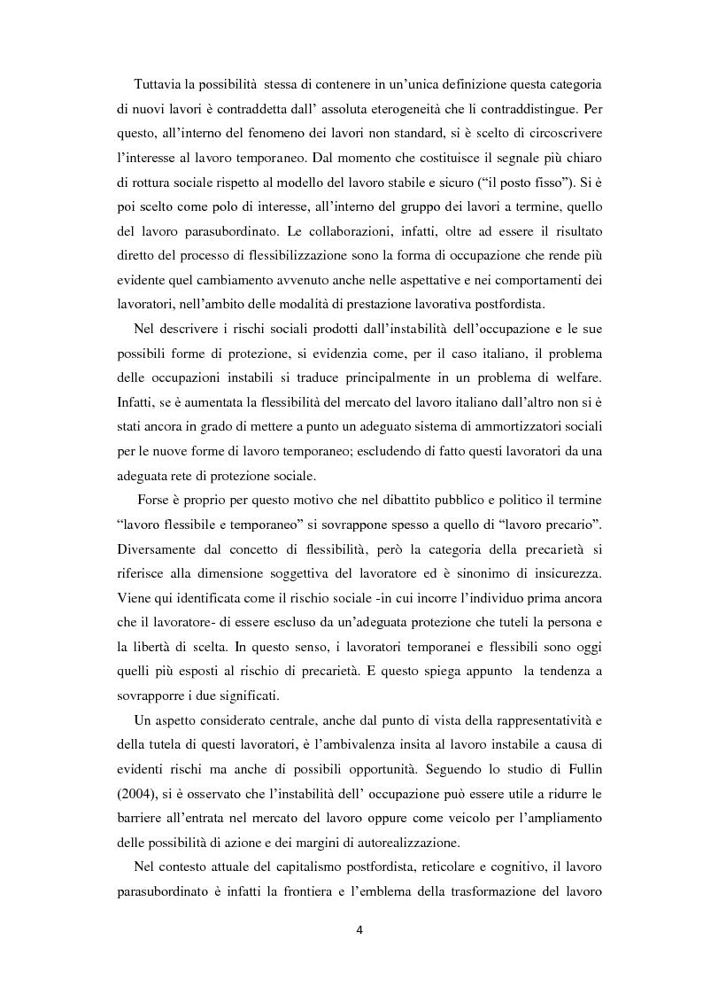 Anteprima della tesi: Quale rappresentanza per quale lavoro? Il sindacato italiano di fronte al lavoro che cambia., Pagina 3