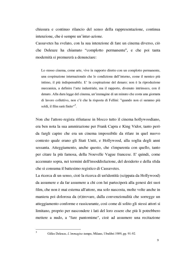Anteprima della tesi: John Cassavetes. Un cinema vitale., Pagina 5