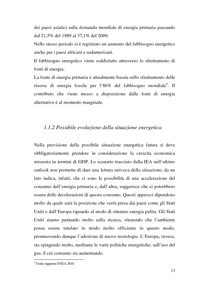 Anteprima della tesi: Le potenzialità dell'energia rinnovabile: analisi di profittabilità di un investimento nel fotovoltaico, Pagina 11