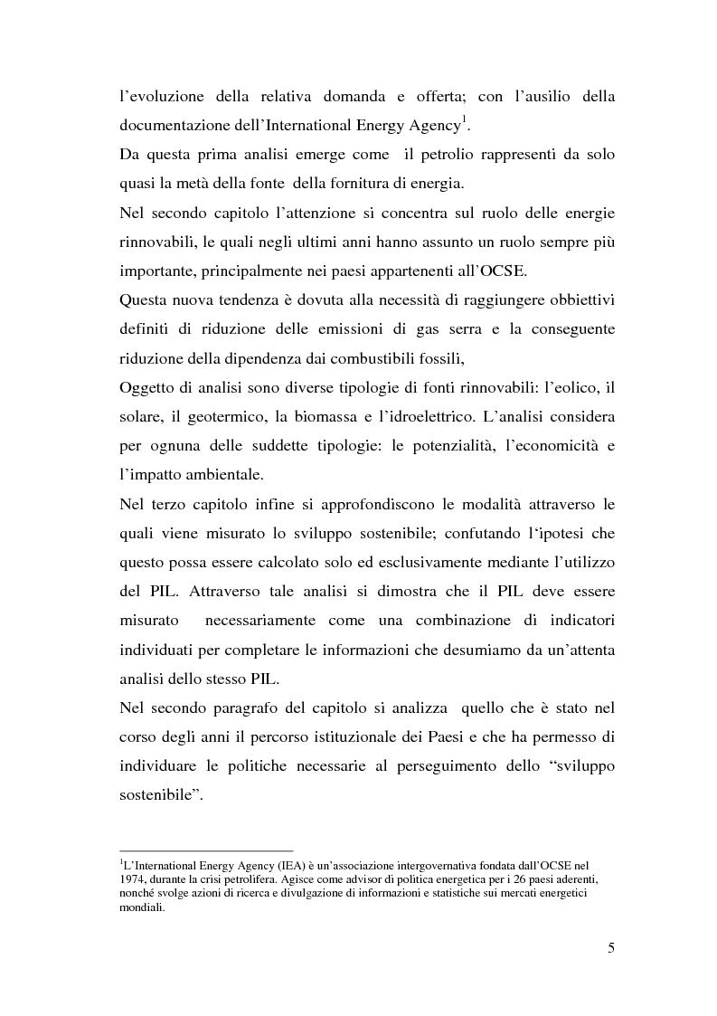 Anteprima della tesi: Le potenzialità dell'energia rinnovabile: analisi di profittabilità di un investimento nel fotovoltaico, Pagina 3