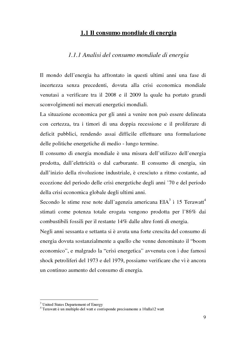 Anteprima della tesi: Le potenzialità dell'energia rinnovabile: analisi di profittabilità di un investimento nel fotovoltaico, Pagina 7