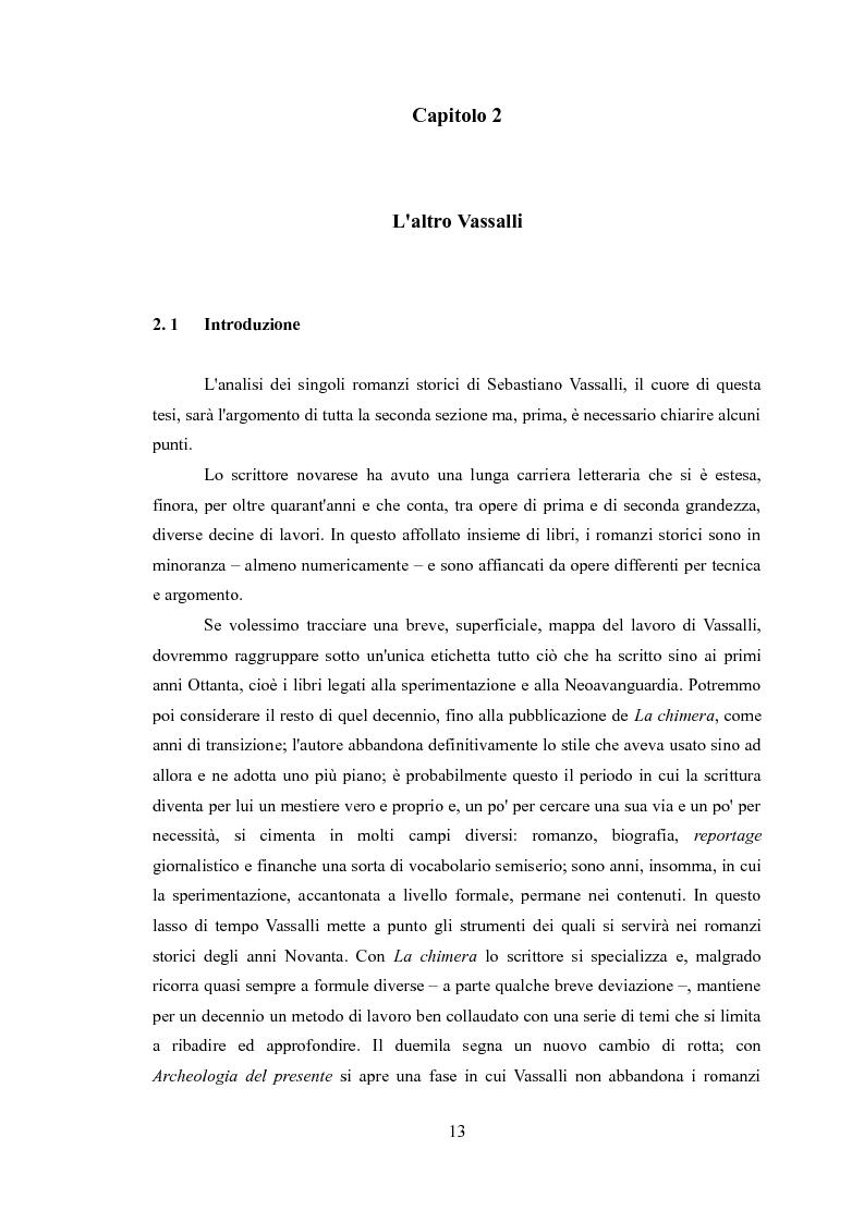 Anteprima della tesi: La narrativa di Sebastiano Vassalli. Romanzo storico e romanzo d'invenzione, Pagina 10