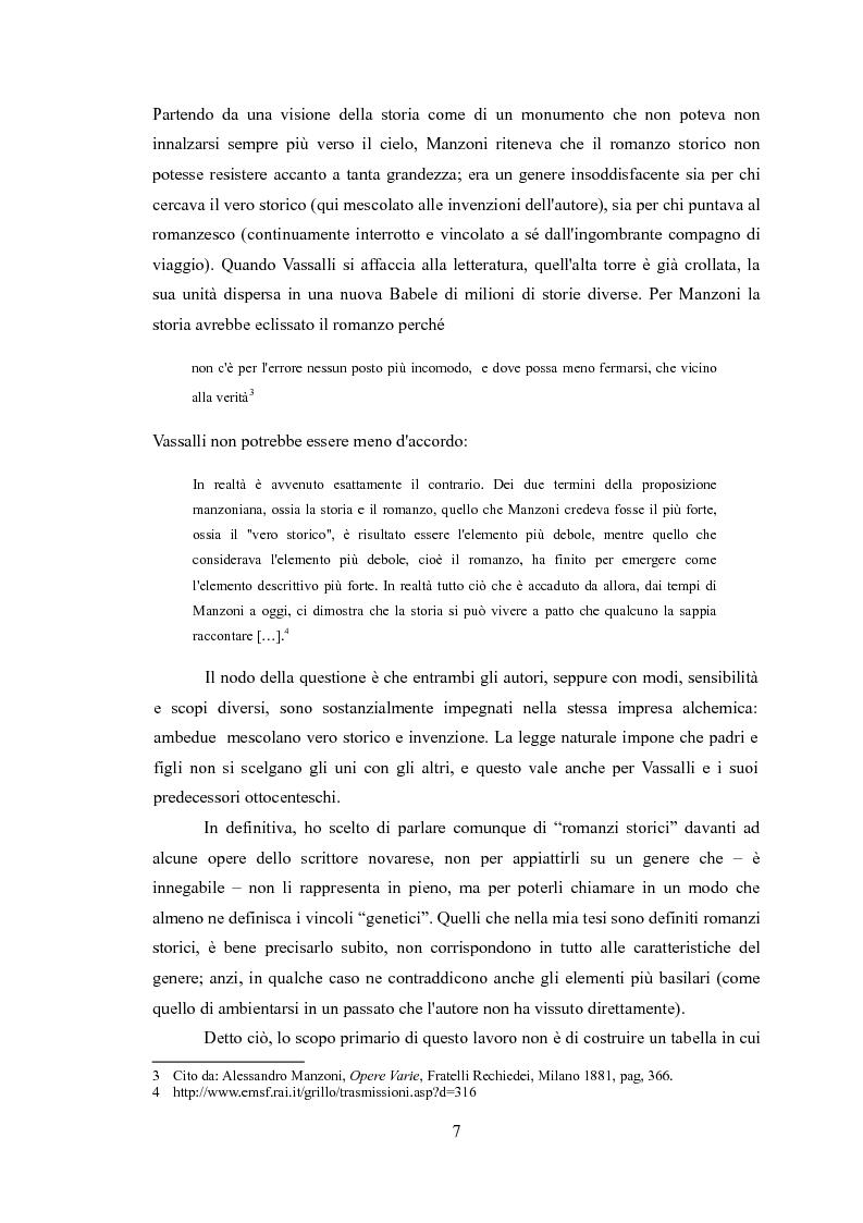 Anteprima della tesi: La narrativa di Sebastiano Vassalli. Romanzo storico e romanzo d'invenzione, Pagina 4