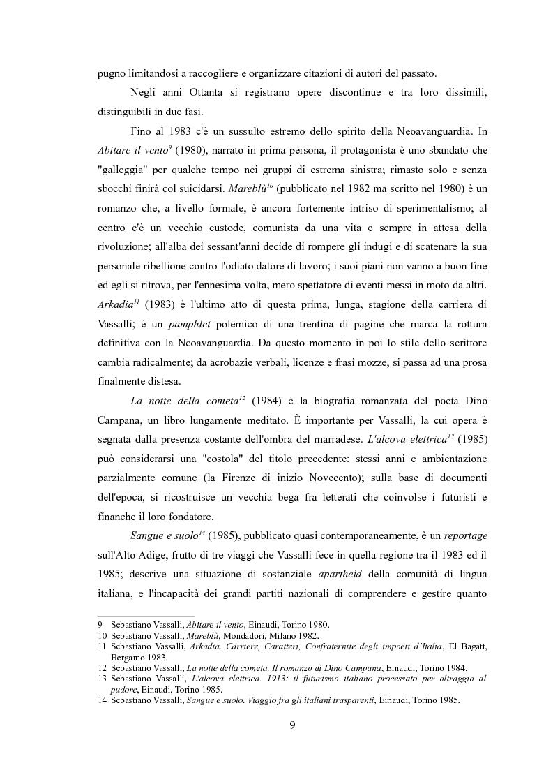 Anteprima della tesi: La narrativa di Sebastiano Vassalli. Romanzo storico e romanzo d'invenzione, Pagina 6