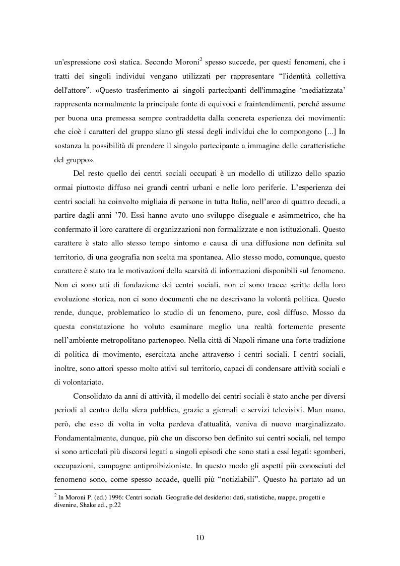 Anteprima della tesi: I centri sociali a Napoli: analisi di uno spazio pubblico, Pagina 5