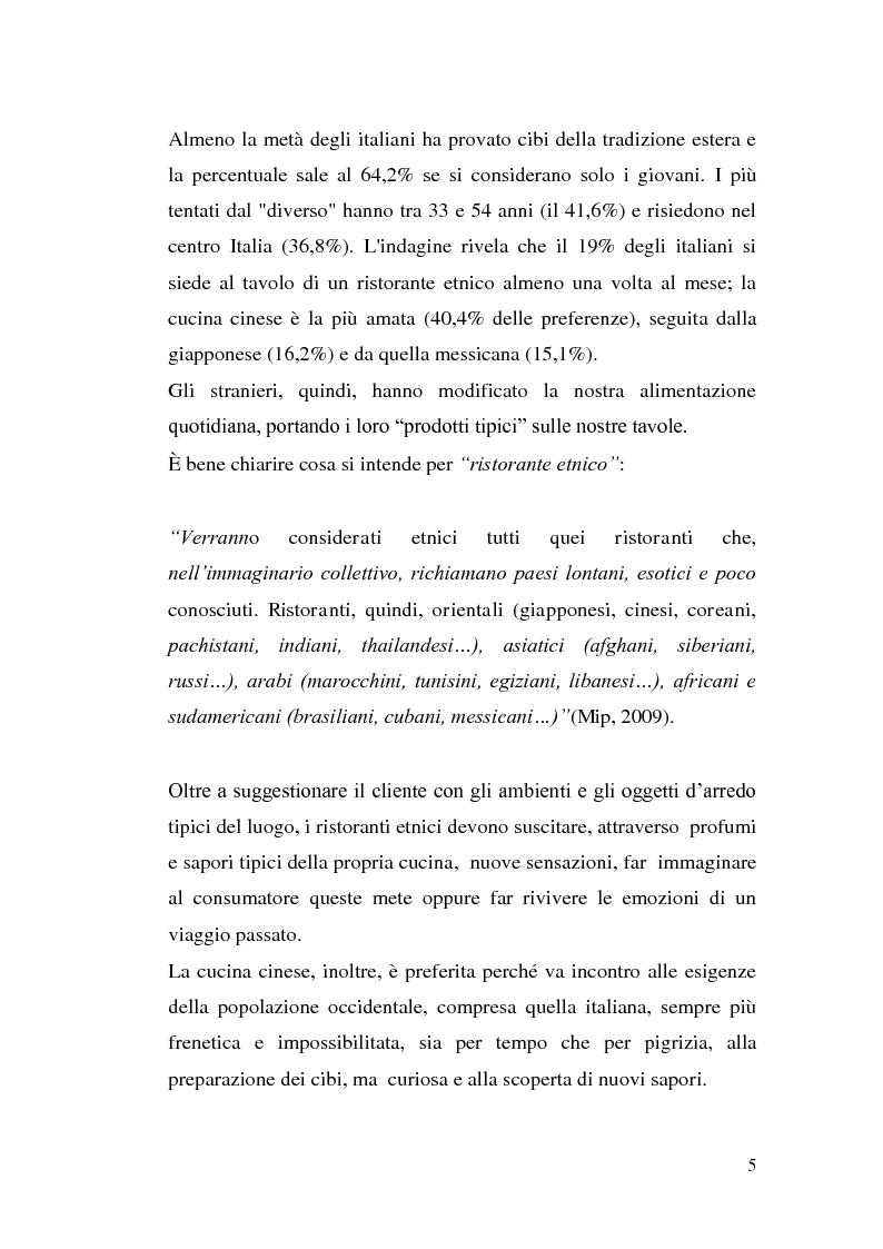 Anteprima della tesi: Problematiche della cucina cinese in Italia, Pagina 3