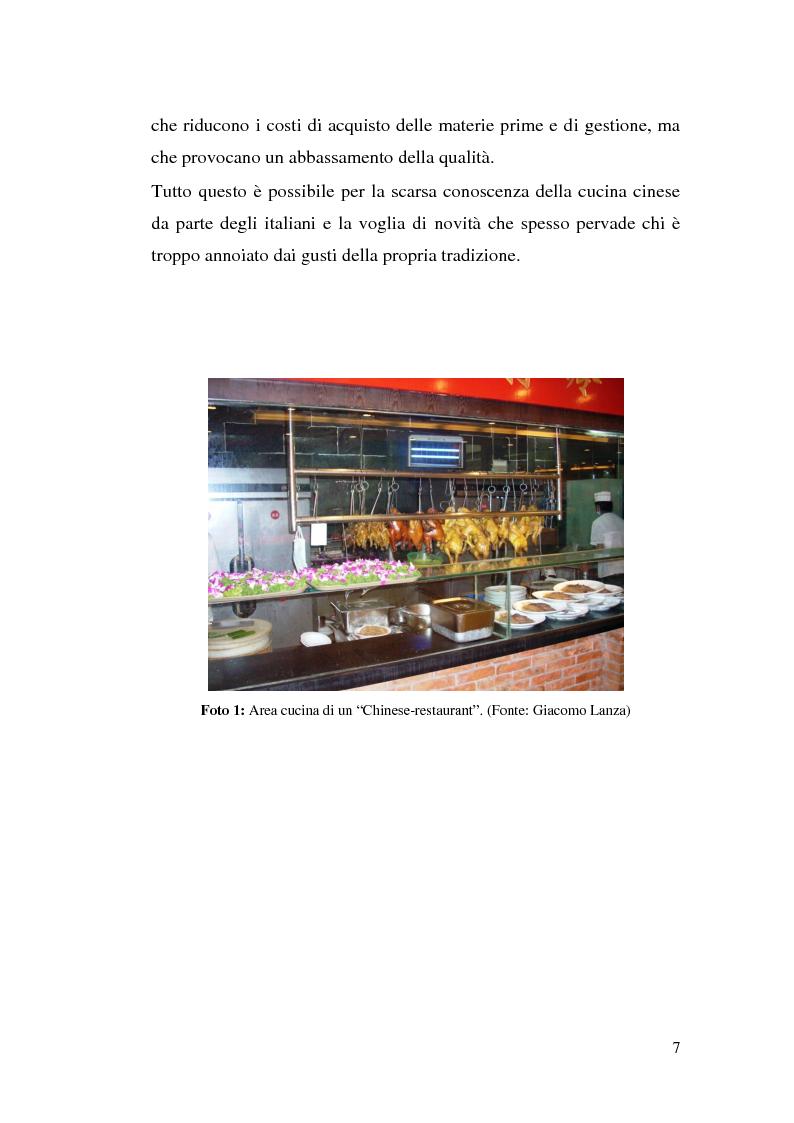 Anteprima della tesi: Problematiche della cucina cinese in Italia, Pagina 5
