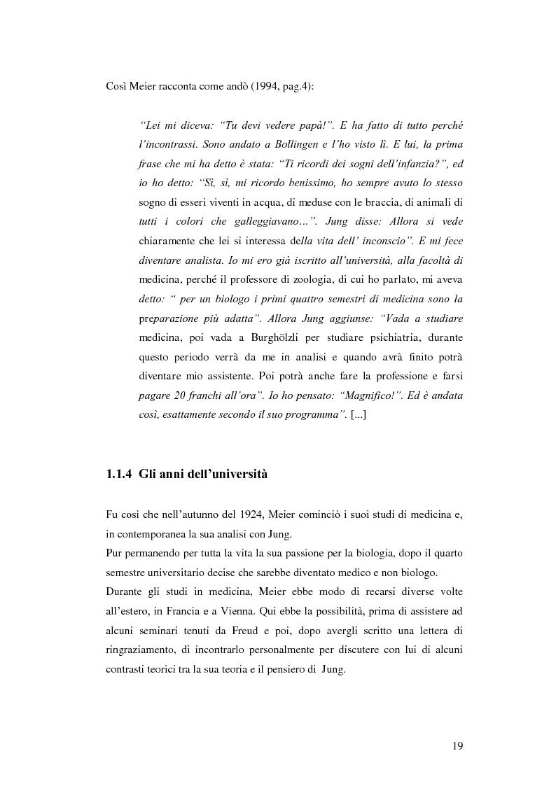 Anteprima della tesi: Carl Alfred Meier: un pioniere della psicologia analitica, Pagina 12