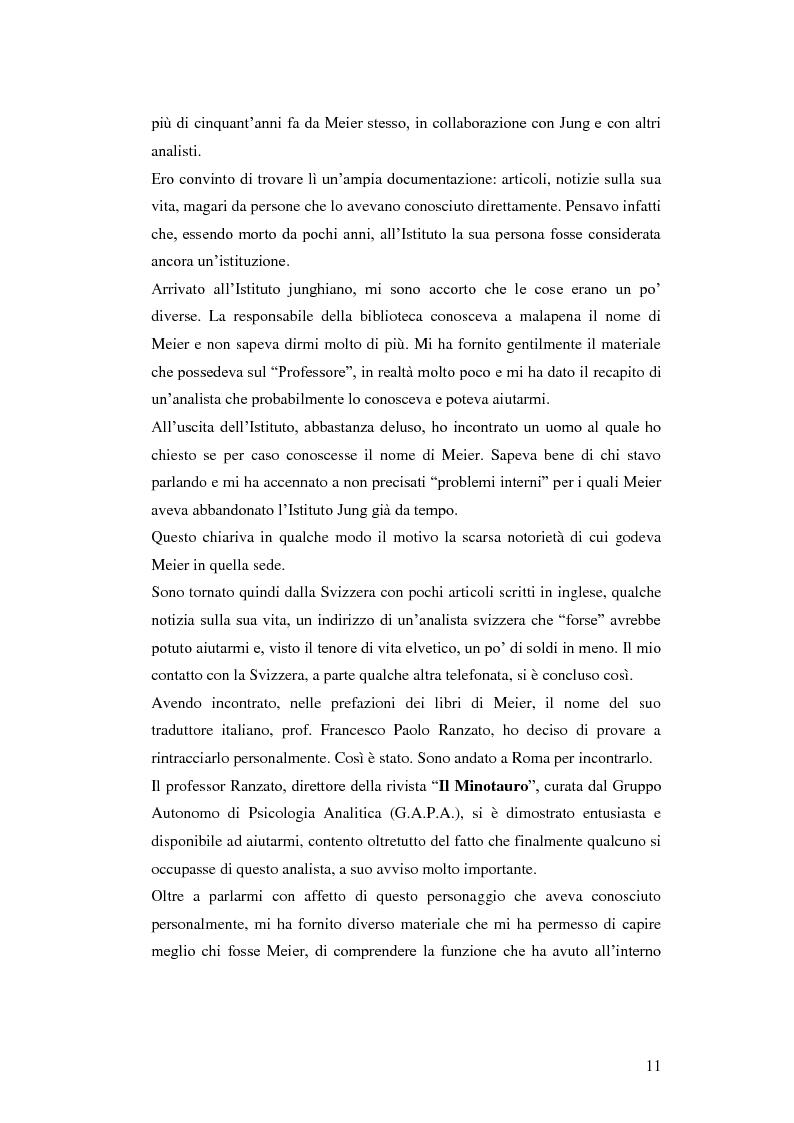Anteprima della tesi: Carl Alfred Meier: un pioniere della psicologia analitica, Pagina 4