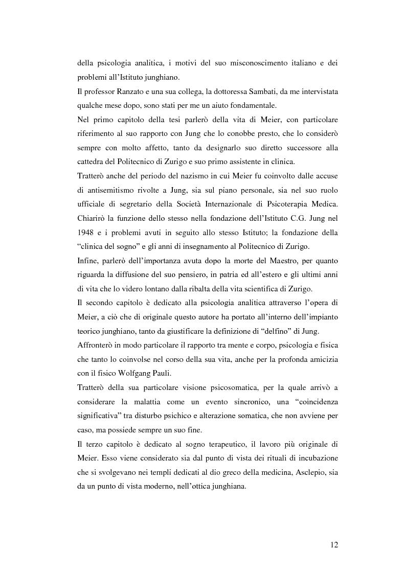 Anteprima della tesi: Carl Alfred Meier: un pioniere della psicologia analitica, Pagina 5