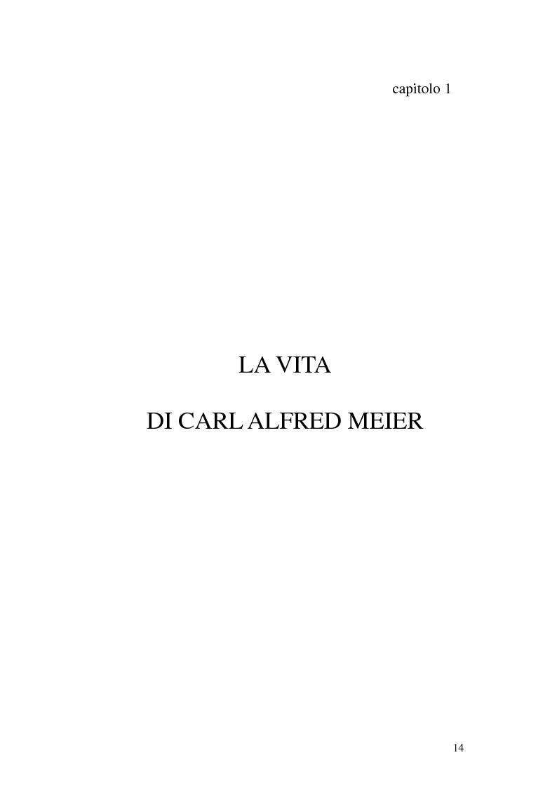 Anteprima della tesi: Carl Alfred Meier: un pioniere della psicologia analitica, Pagina 7