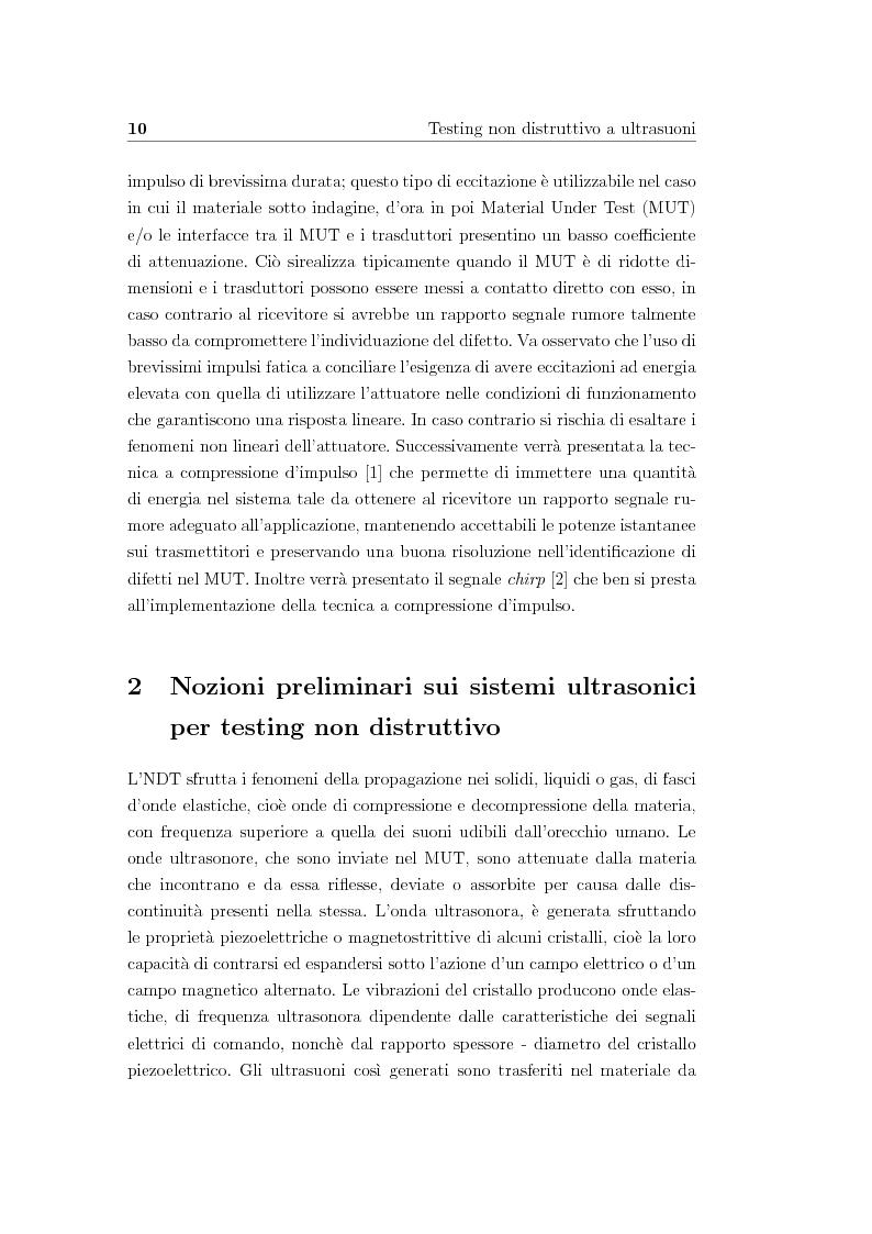 Anteprima della tesi: Dal chirp a segnali di eccitazione pseudo-ortogonali per il testing non distruttivo a ultrasuoni, Pagina 3