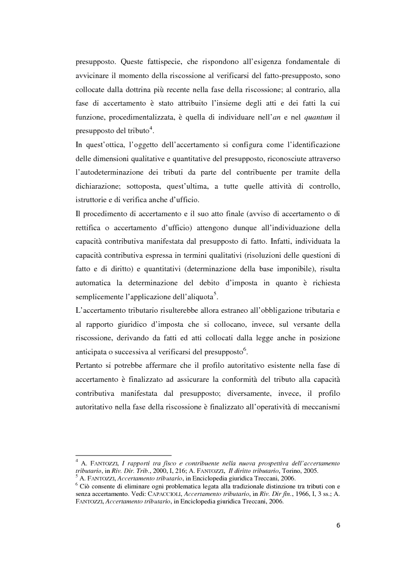 Anteprima della tesi: L'atto di accertamento esecutivo, Pagina 3