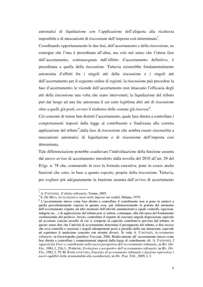 Anteprima della tesi: L'atto di accertamento esecutivo, Pagina 4