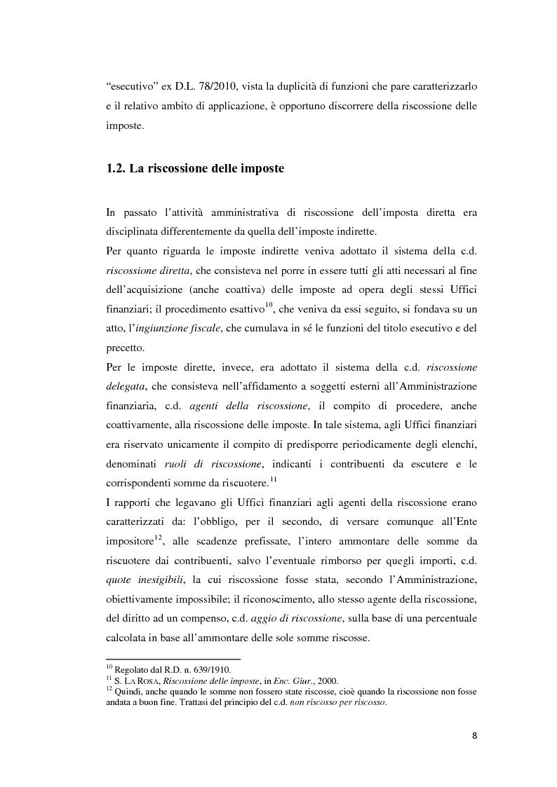 Anteprima della tesi: L'atto di accertamento esecutivo, Pagina 5