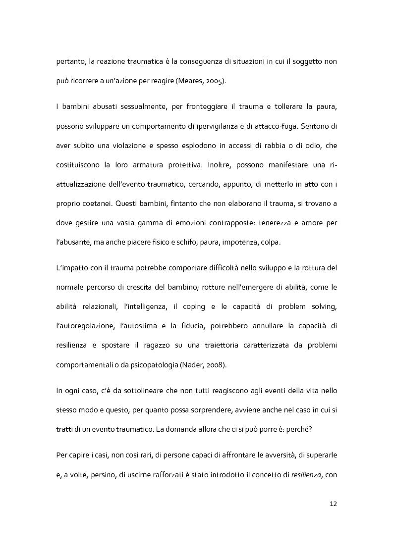 Anteprima della tesi: Il racconto del trauma: fattori che influenzano la disclosure nel caso di abuso sessuale infantile, Pagina 10