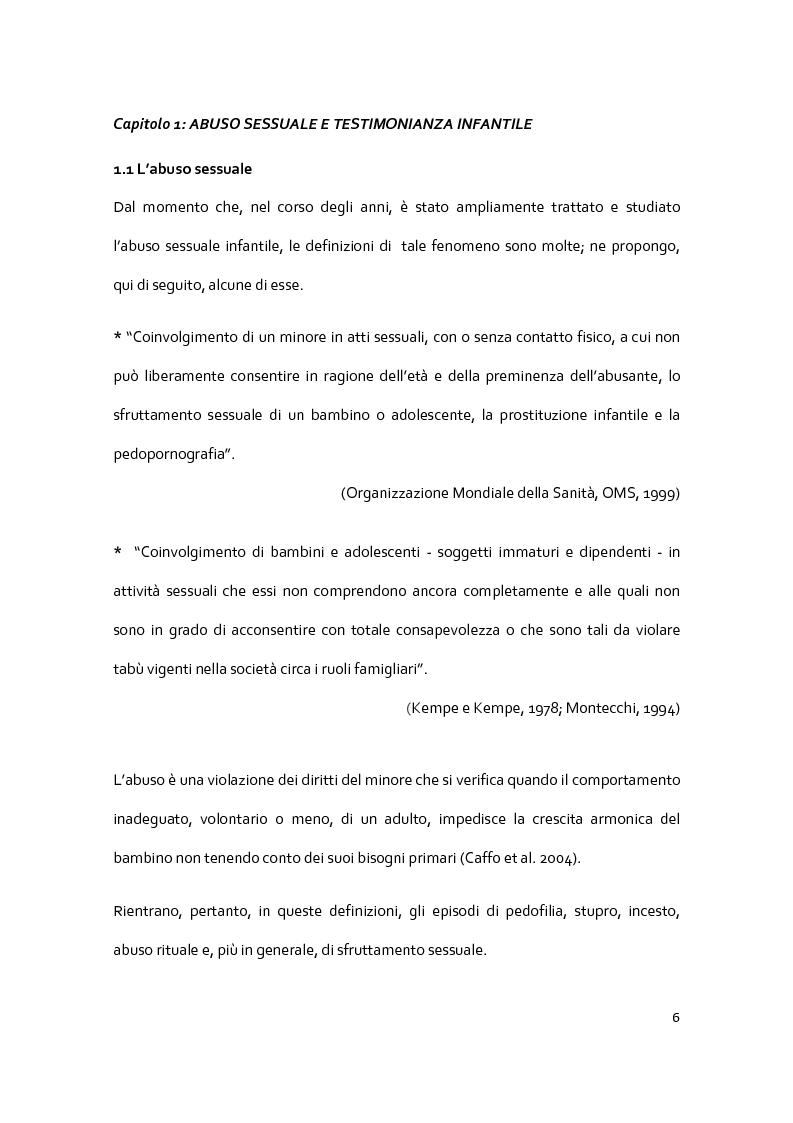 Anteprima della tesi: Il racconto del trauma: fattori che influenzano la disclosure nel caso di abuso sessuale infantile, Pagina 4