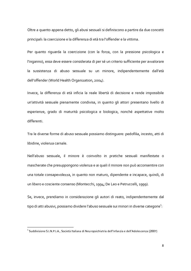 Anteprima della tesi: Il racconto del trauma: fattori che influenzano la disclosure nel caso di abuso sessuale infantile, Pagina 6