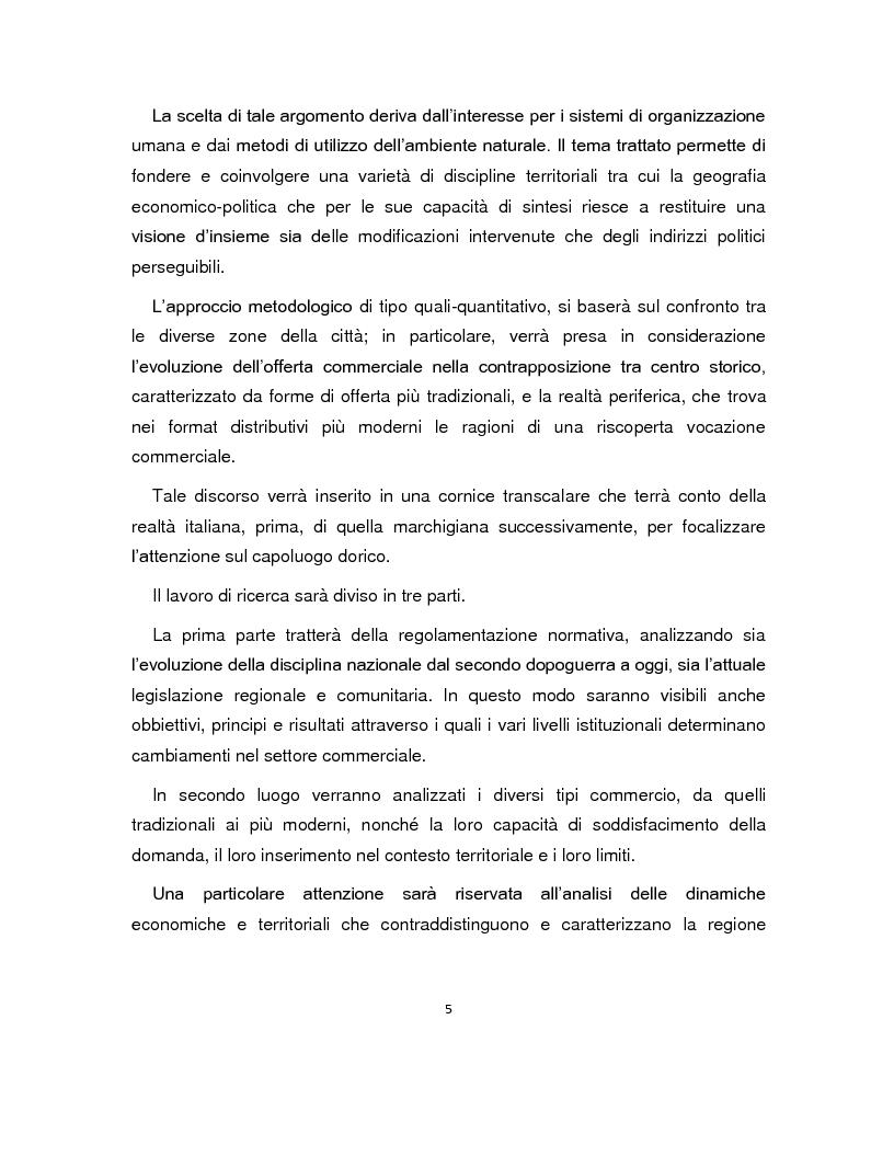 Anteprima della tesi: Gli spazi del commercio nei processi di rigenerazione urbana del capoluogo dorico, Pagina 3