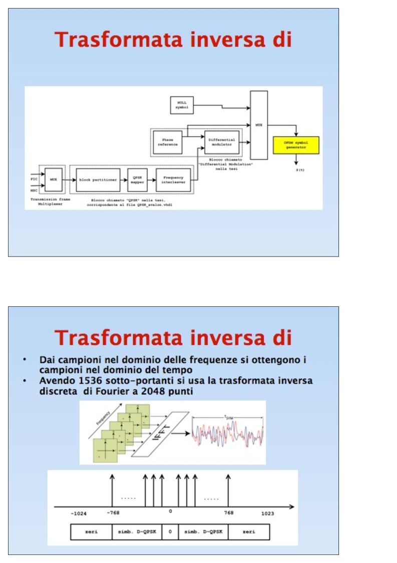 Anteprima della tesi: Sistemi DAB su FPGA: Sorgente audio, interleavingfrequenziale, modulazione OFDM, Pagina 11