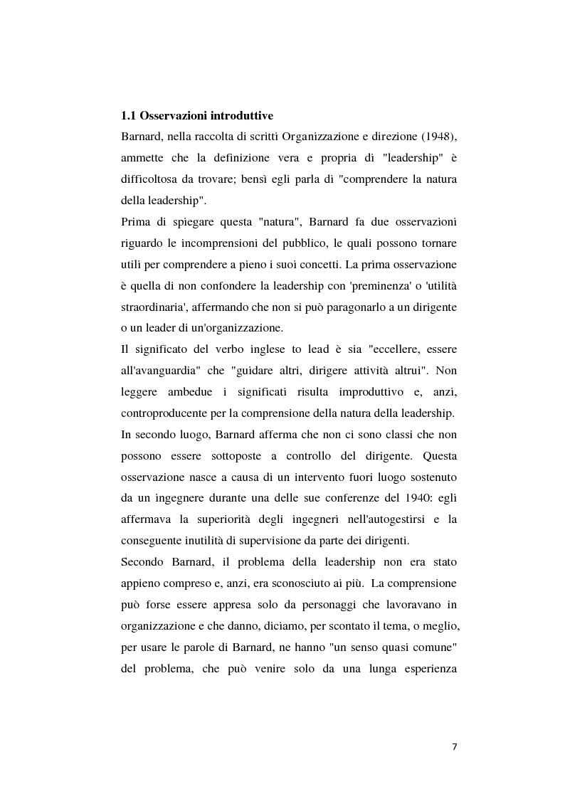 Anteprima della tesi: Il pensiero di C. J. Barnard: concetti di leadership e di organizzazione, Pagina 3