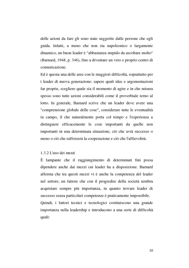 Anteprima della tesi: Il pensiero di C. J. Barnard: concetti di leadership e di organizzazione, Pagina 6