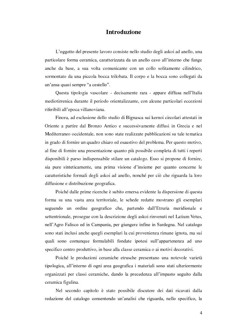 Anteprima della tesi: Gli askoi ad anello tardo-villanoviani ed orientalizzanti dell'Italia centrale tirrenica, Pagina 2