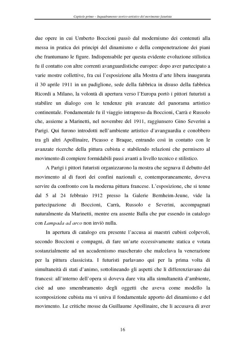 Anteprima della tesi: Esperienze futuriste tra Parma e Piacenza, Pagina 11