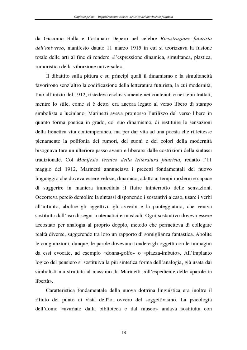 Anteprima della tesi: Esperienze futuriste tra Parma e Piacenza, Pagina 13
