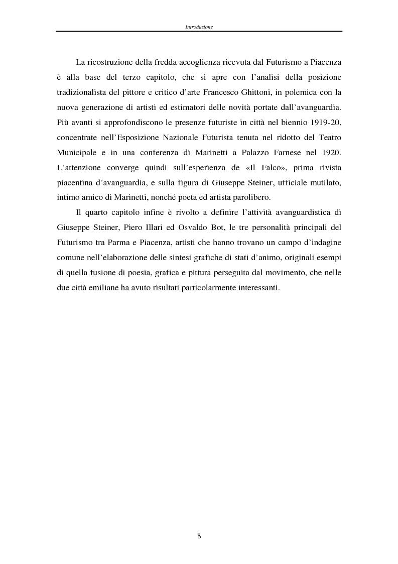 Anteprima della tesi: Esperienze futuriste tra Parma e Piacenza, Pagina 3