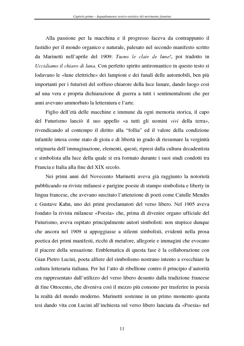 Anteprima della tesi: Esperienze futuriste tra Parma e Piacenza, Pagina 6