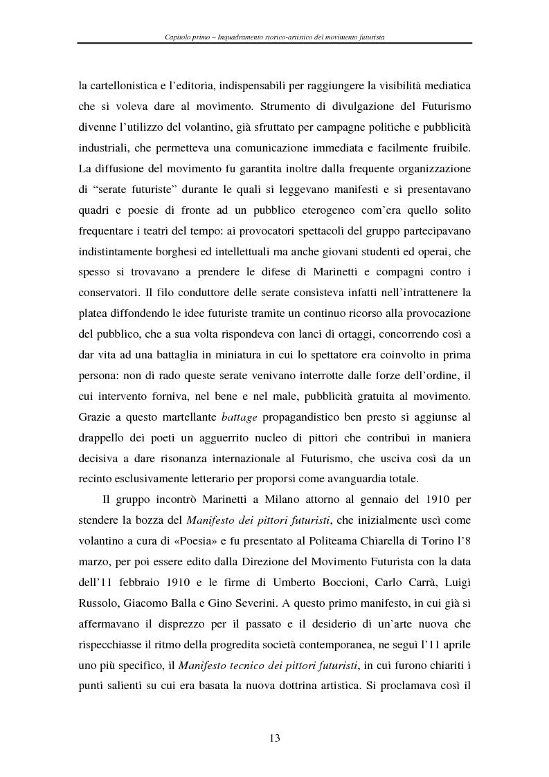 Anteprima della tesi: Esperienze futuriste tra Parma e Piacenza, Pagina 8